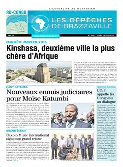 Les Dépêches de Brazzaville : Édition kinshasa du 23 juin 2016