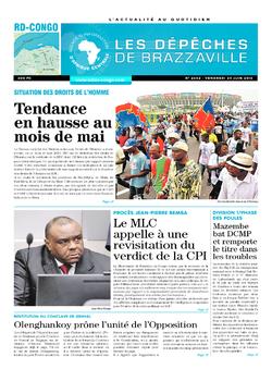 Les Dépêches de Brazzaville : Édition kinshasa du 24 juin 2016