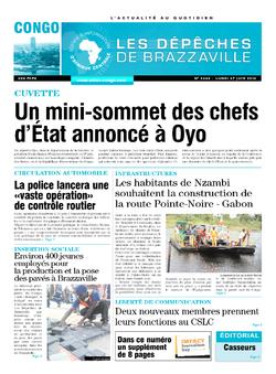 Les Dépêches de Brazzaville : Édition brazzaville du 27 juin 2016
