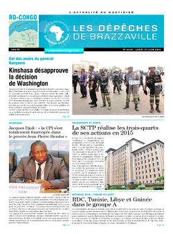 Les Dépêches de Brazzaville : Édition kinshasa du 27 juin 2016