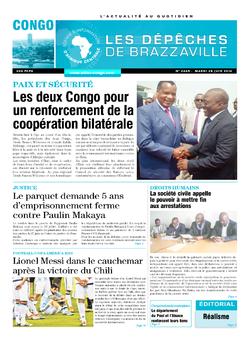 Les Dépêches de Brazzaville : Édition brazzaville du 28 juin 2016