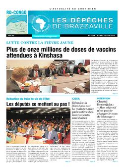Les Dépêches de Brazzaville : Édition kinshasa du 28 juin 2016