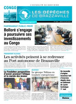Les Dépêches de Brazzaville : Édition brazzaville du 30 juin 2016