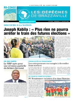 Les Dépêches de Brazzaville : Édition kinshasa du 01 juillet 2016