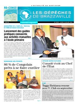 Les Dépêches de Brazzaville : Édition kinshasa du 04 juillet 2016