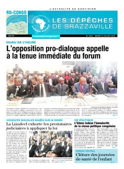 Les Dépêches de Brazzaville : Édition kinshasa du 05 juillet 2016