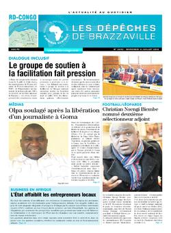 Les Dépêches de Brazzaville : Édition kinshasa du 06 juillet 2016