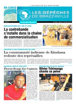 Les Dépêches de Brazzaville : Édition kinshasa du 07 juillet 2016