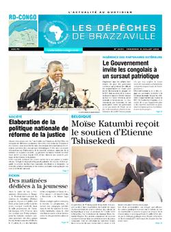 Les Dépêches de Brazzaville : Édition kinshasa du 08 juillet 2016