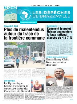 Les Dépêches de Brazzaville : Édition kinshasa du 11 juillet 2016