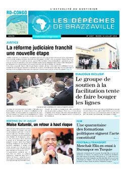 Les Dépêches de Brazzaville : Édition kinshasa du 12 juillet 2016