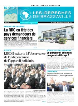 Les Dépêches de Brazzaville : Édition kinshasa du 13 juillet 2016