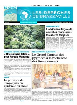 Les Dépêches de Brazzaville : Édition kinshasa du 14 juillet 2016