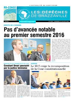 Les Dépêches de Brazzaville : Édition kinshasa du 15 juillet 2016