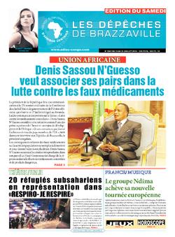 Les Dépêches de Brazzaville : Édition du 6e jour du 16 juillet 2016