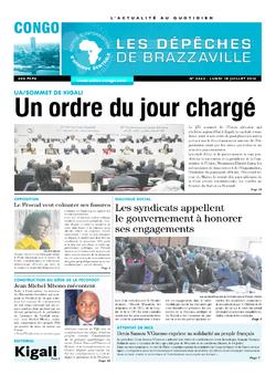 Les Dépêches de Brazzaville : Édition brazzaville du 18 juillet 2016