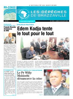 Les Dépêches de Brazzaville : Édition kinshasa du 18 juillet 2016