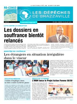 Les Dépêches de Brazzaville : Édition kinshasa du 19 juillet 2016