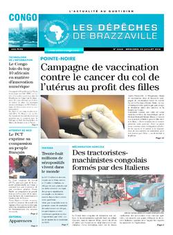 Les Dépêches de Brazzaville : Édition brazzaville du 20 juillet 2016