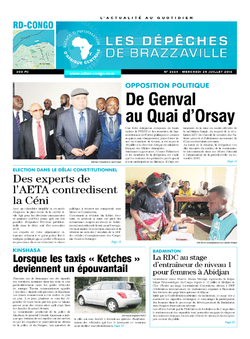 Les Dépêches de Brazzaville : Édition kinshasa du 20 juillet 2016