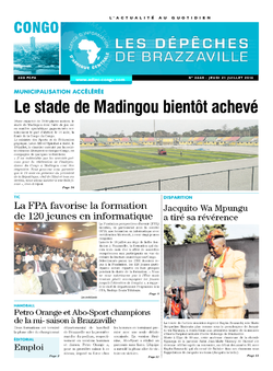 Les Dépêches de Brazzaville : Édition brazzaville du 21 juillet 2016