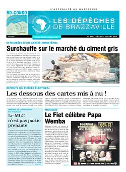 Les Dépêches de Brazzaville : Édition kinshasa du 21 juillet 2016
