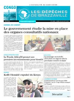 Les Dépêches de Brazzaville : Édition brazzaville du 25 juillet 2016
