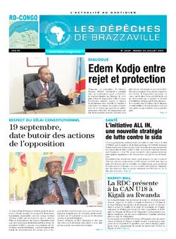 Les Dépêches de Brazzaville : Édition kinshasa du 26 juillet 2016