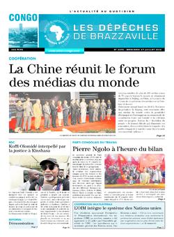 Les Dépêches de Brazzaville : Édition brazzaville du 27 juillet 2016