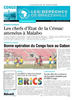 Les Dépêches de Brazzaville : Édition brazzaville du 28 juillet 2016