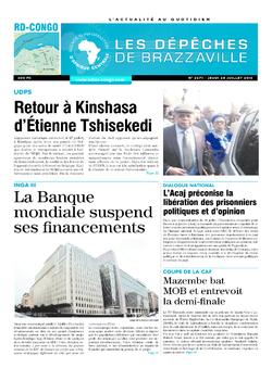 Les Dépêches de Brazzaville : Édition kinshasa du 28 juillet 2016