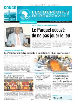 Les Dépêches de Brazzaville : Édition brazzaville du 29 juillet 2016