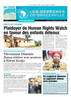 Les Dépêches de Brazzaville : Édition kinshasa du 29 juillet 2016