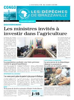 Les Dépêches de Brazzaville : Édition brazzaville du 01 août 2016
