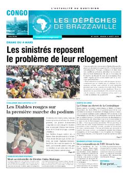 Les Dépêches de Brazzaville : Édition brazzaville du 02 août 2016