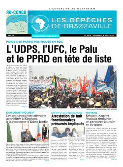 Les Dépêches de Brazzaville : Édition kinshasa du 05 août 2016