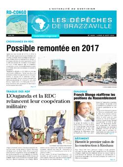 Les Dépêches de Brazzaville : Édition kinshasa du 08 août 2016