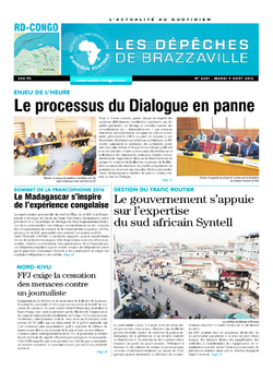 Les Dépêches de Brazzaville : Édition kinshasa du 09 août 2016