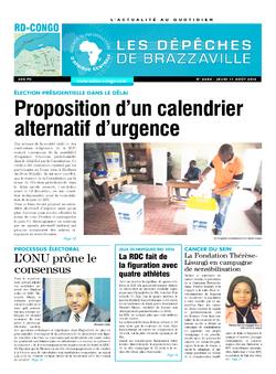 Les Dépêches de Brazzaville : Édition kinshasa du 11 août 2016