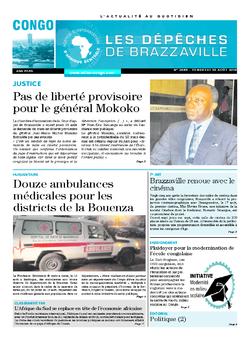 Les Dépêches de Brazzaville : Édition brazzaville du 19 août 2016