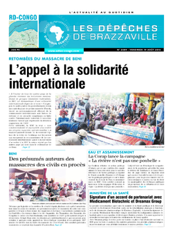 Les Dépêches de Brazzaville : Édition kinshasa du 19 août 2016
