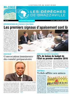 Les Dépêches de Brazzaville : Édition kinshasa du 22 août 2016