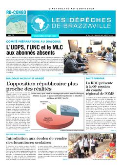 Les Dépêches de Brazzaville : Édition kinshasa du 23 août 2016