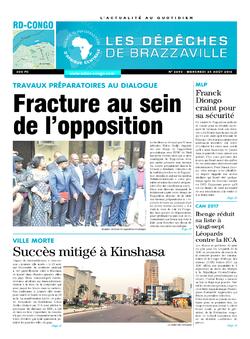 Les Dépêches de Brazzaville : Édition kinshasa du 24 août 2016