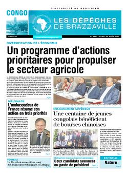 Les Dépêches de Brazzaville : Édition brazzaville du 29 août 2016