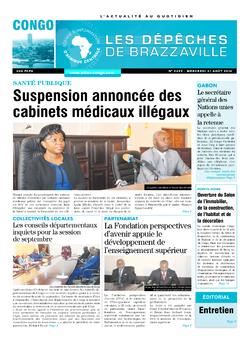 Les Dépêches de Brazzaville : Édition brazzaville du 31 août 2016