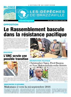 Les Dépêches de Brazzaville : Édition kinshasa du 31 août 2016