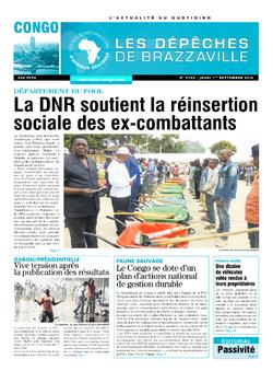 Les Dépêches de Brazzaville : Édition brazzaville du 01 septembre 2016