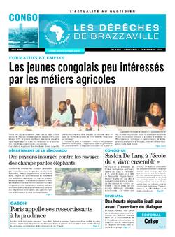 Les Dépêches de Brazzaville : Édition brazzaville du 02 septembre 2016