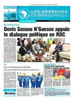 Les Dépêches de Brazzaville : Édition brazzaville du 05 septembre 2016